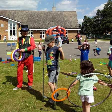 Circus skills childrens activity